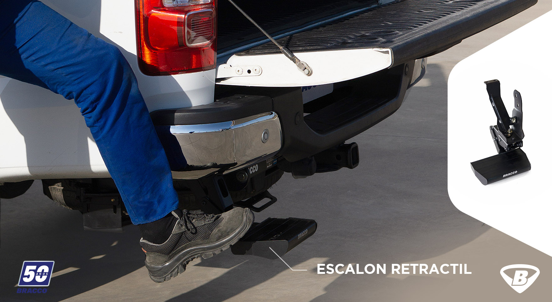 escalon retractil bracco